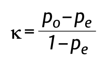Cohens Kappa Formel